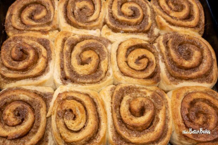 baked uniced cinnamon buns