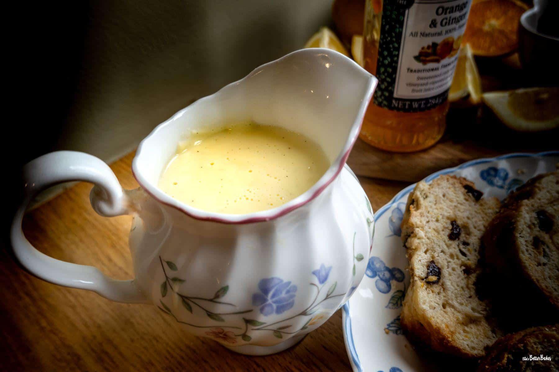 vanilla custard in a jug