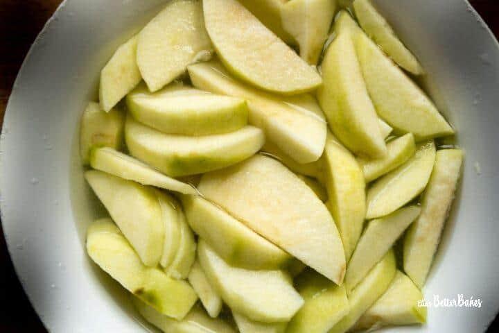 apples sliced