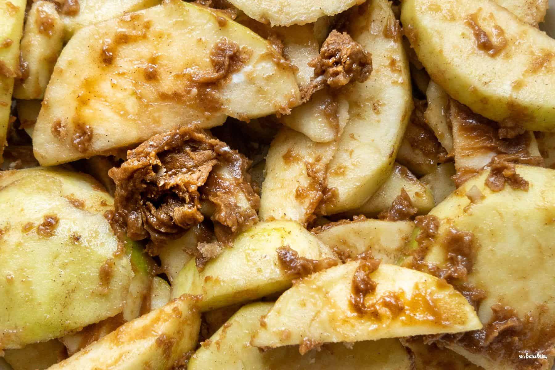 prepared apples close up