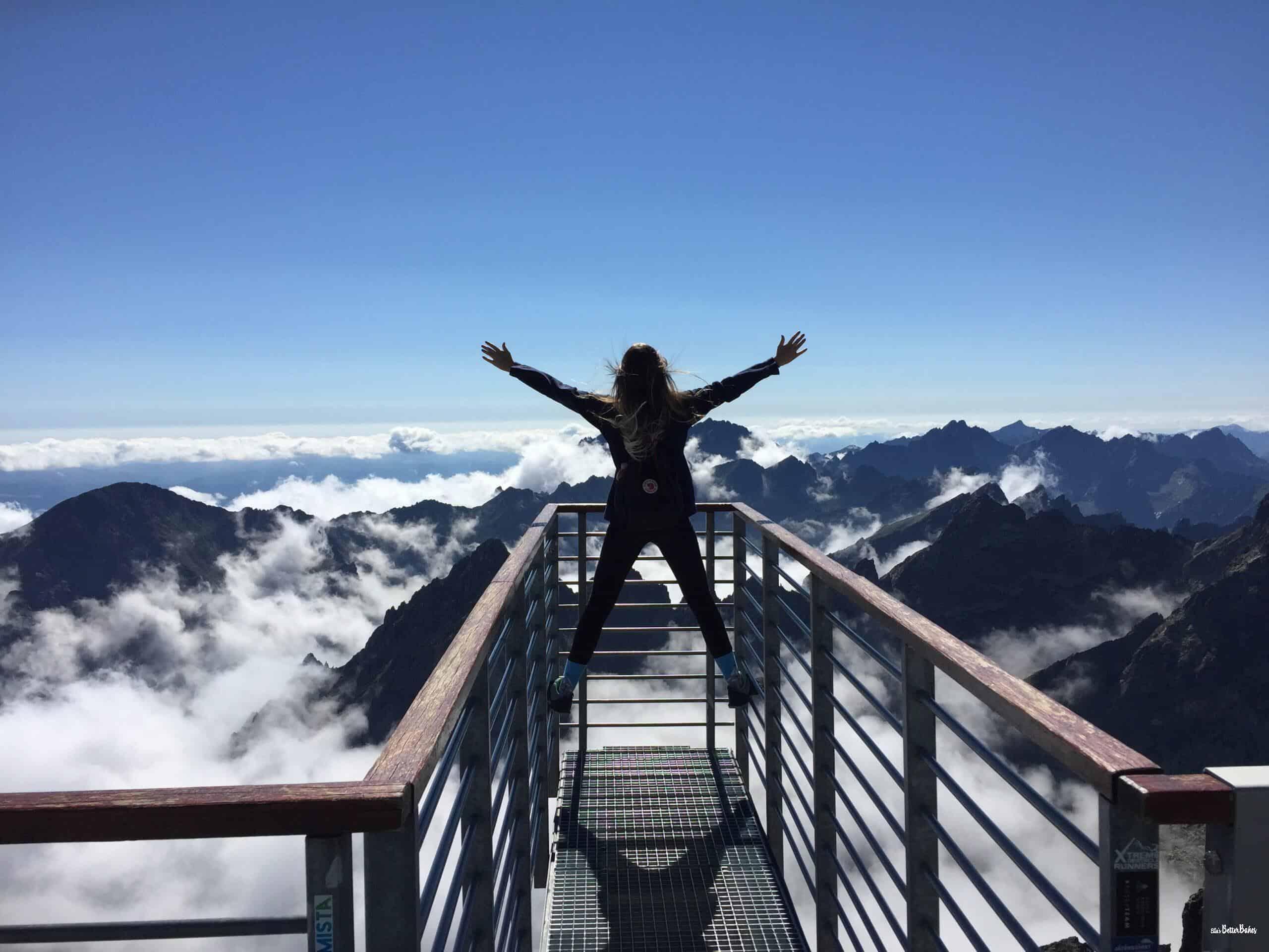 girl on a bridge happy