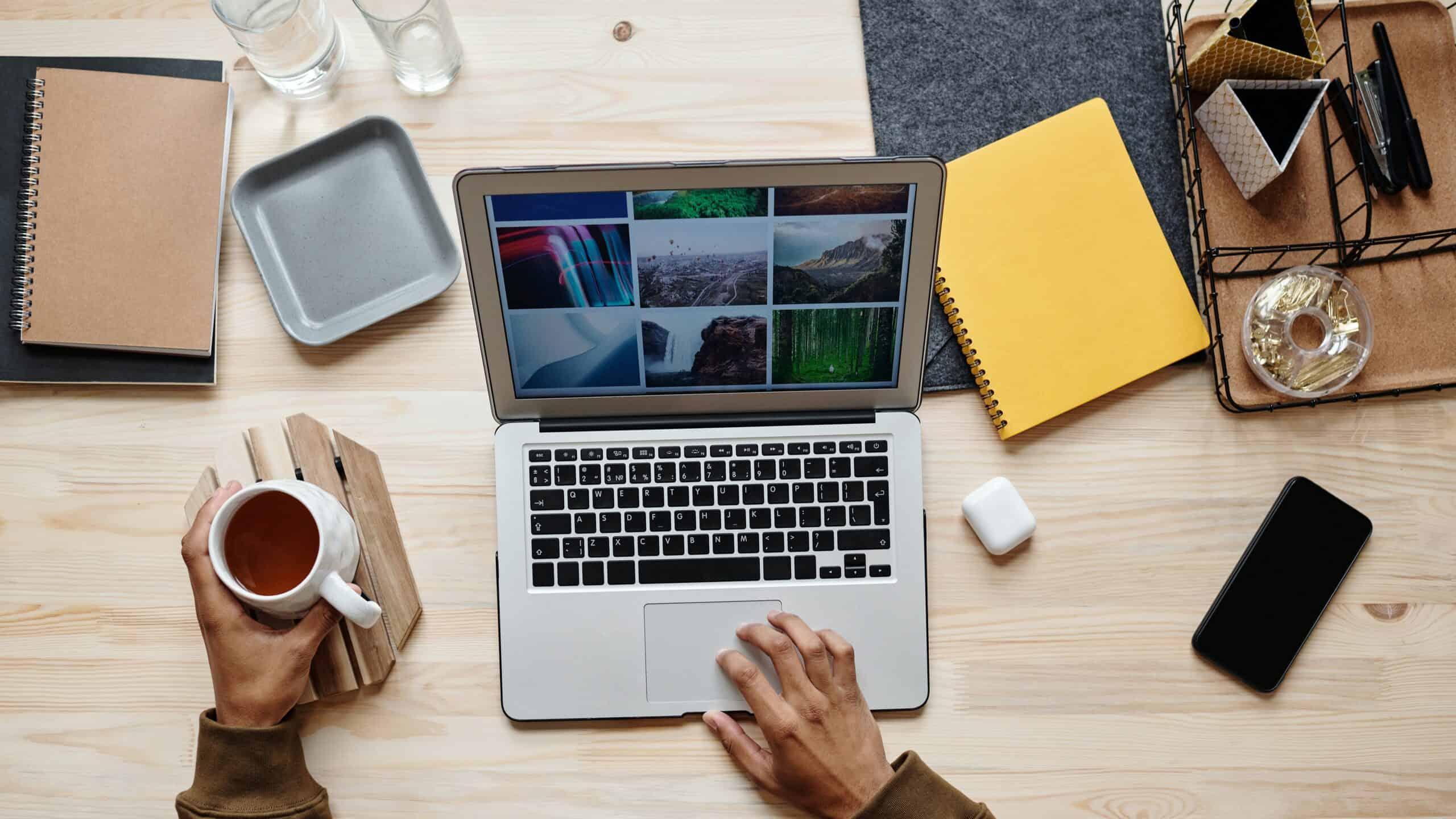 laptop office setting