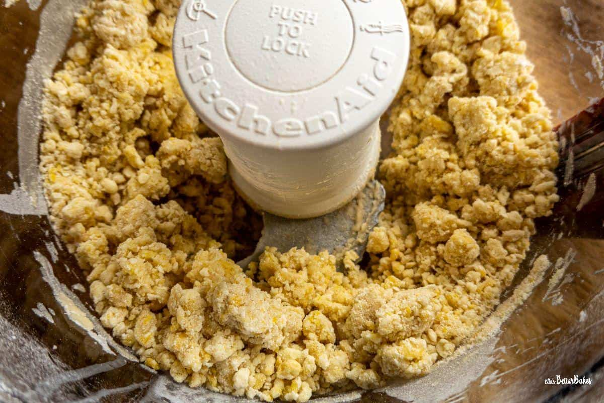 dough mixed ready in processor
