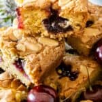 stack of cherry bakewells