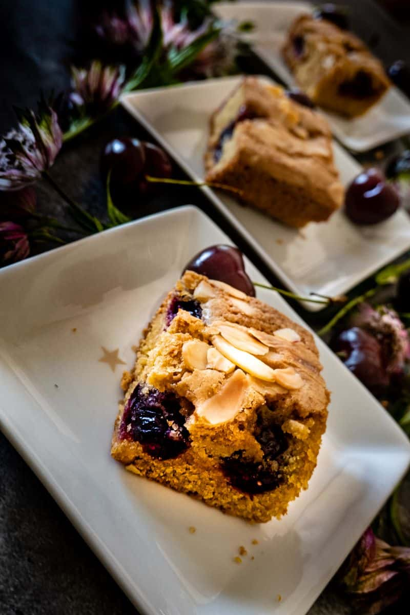 row of plates with cherry bakeswells