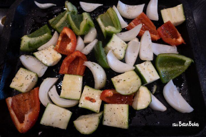 veg cut ready to roast