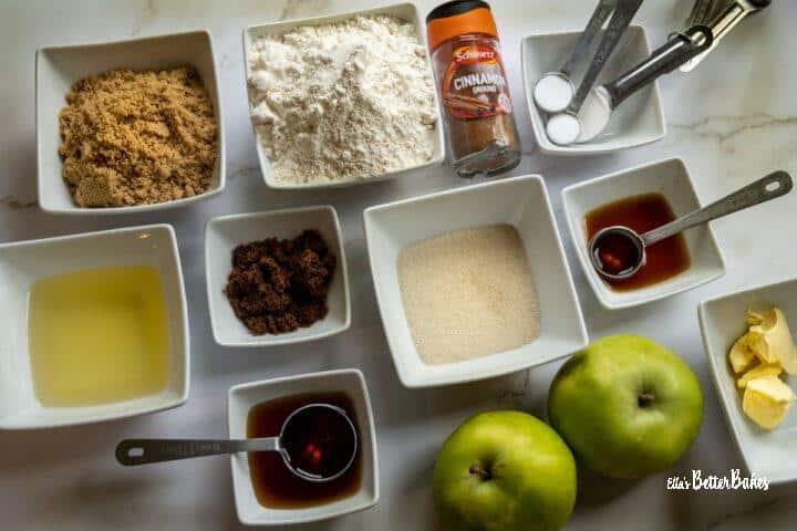 ingredients for vegan apple cake
