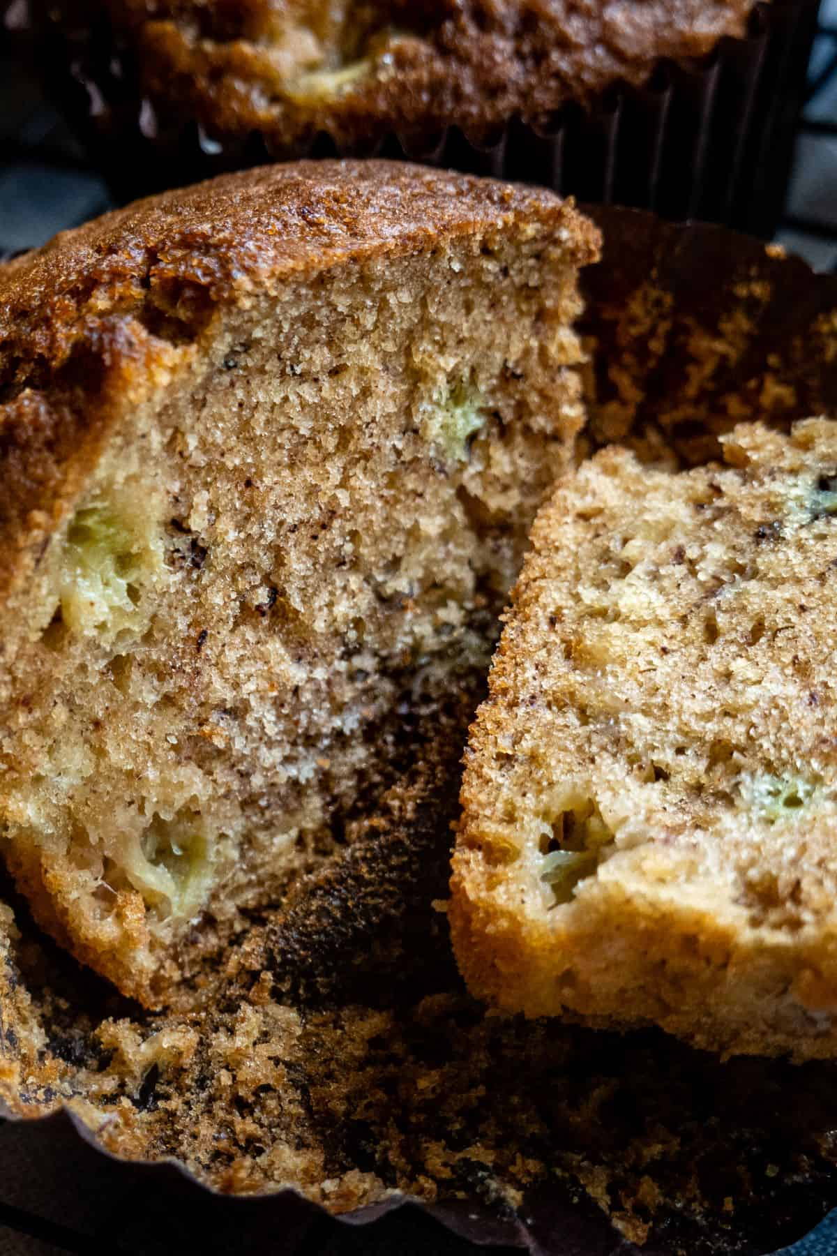 portrait of a cut muffin