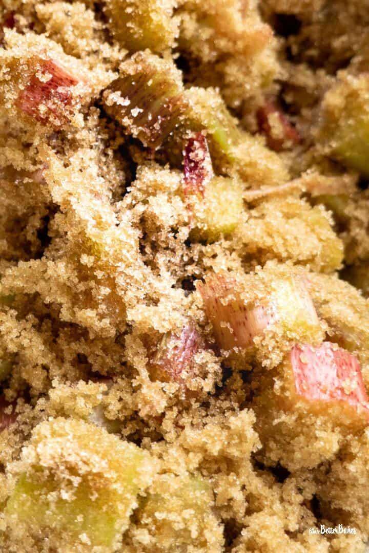 rhubarb mixed with sugar