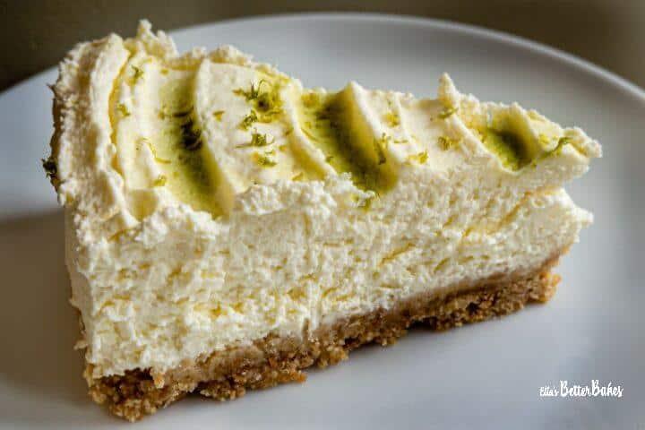 slice of mojito cheesecake