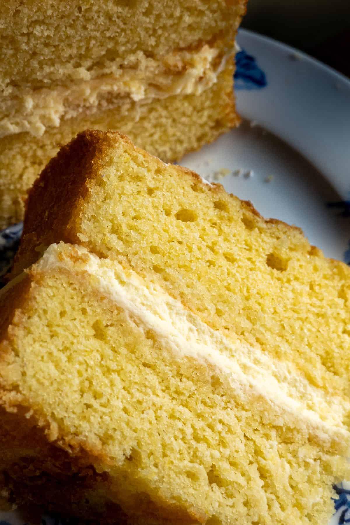 slices of lemon victoria sponge