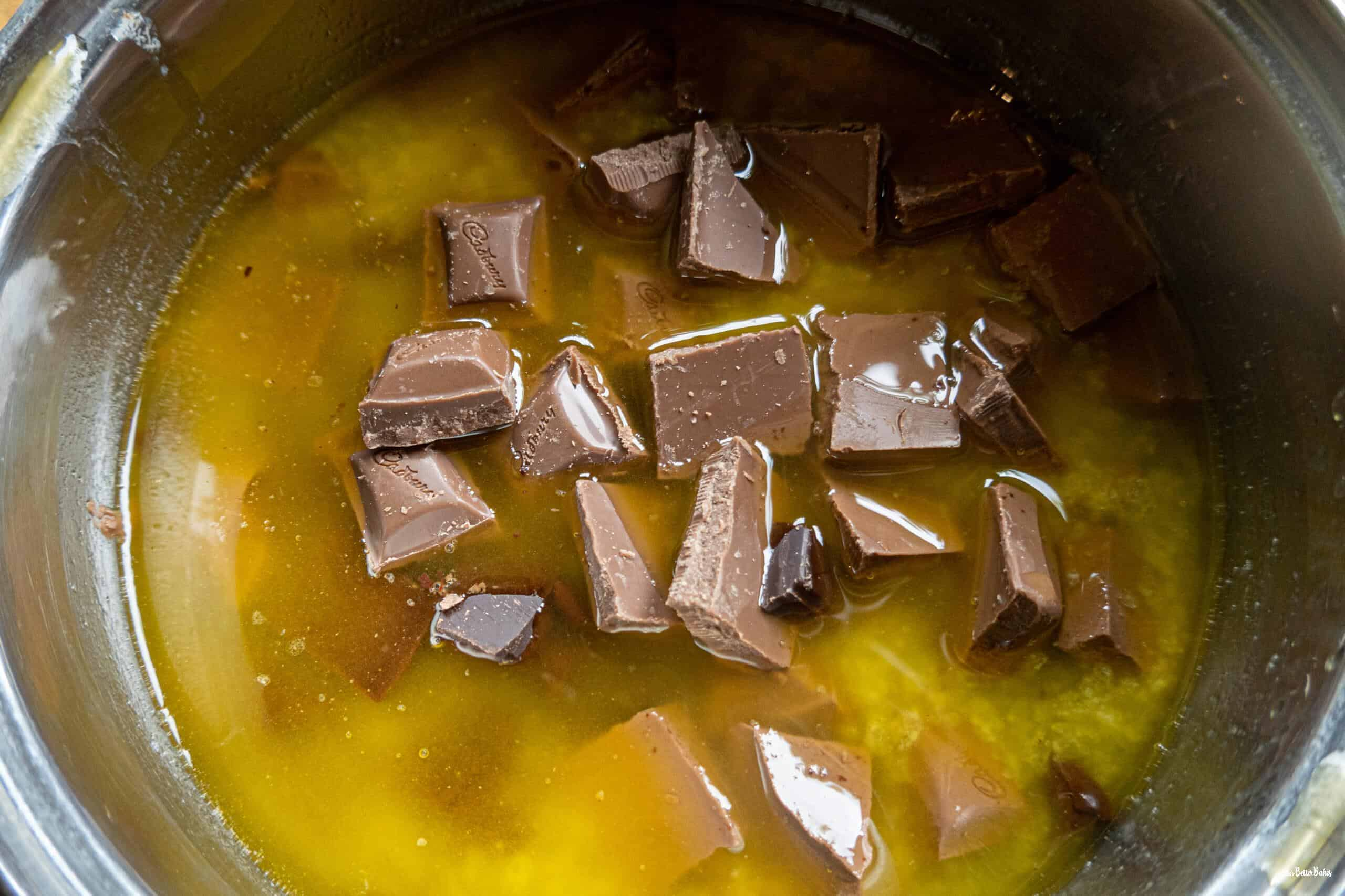 chocolate added to butter for Malteser rocky road