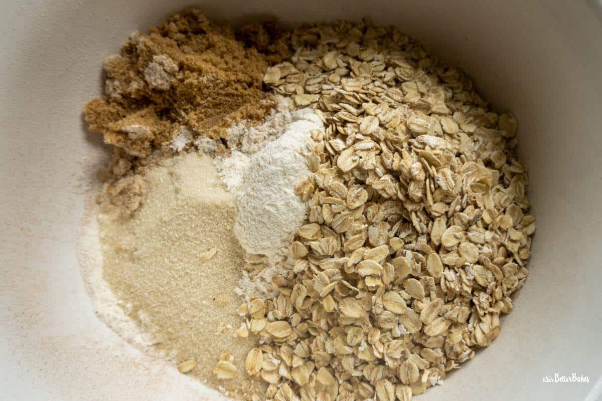 oats, sugars and flour