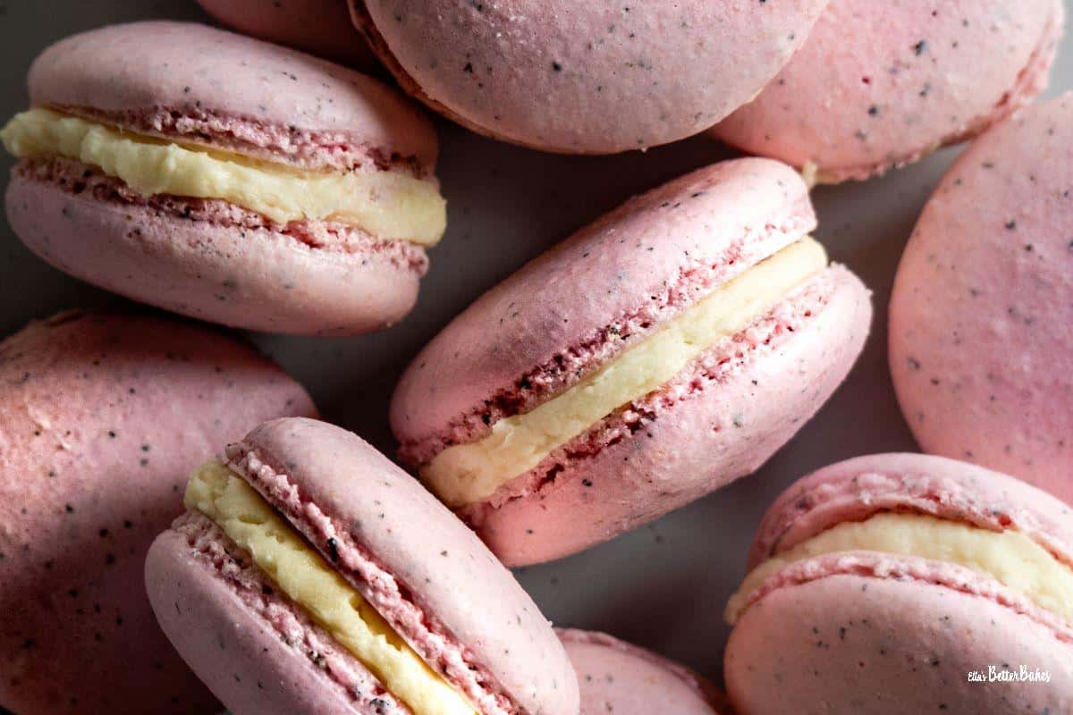 close up of plate of macarons - Copy
