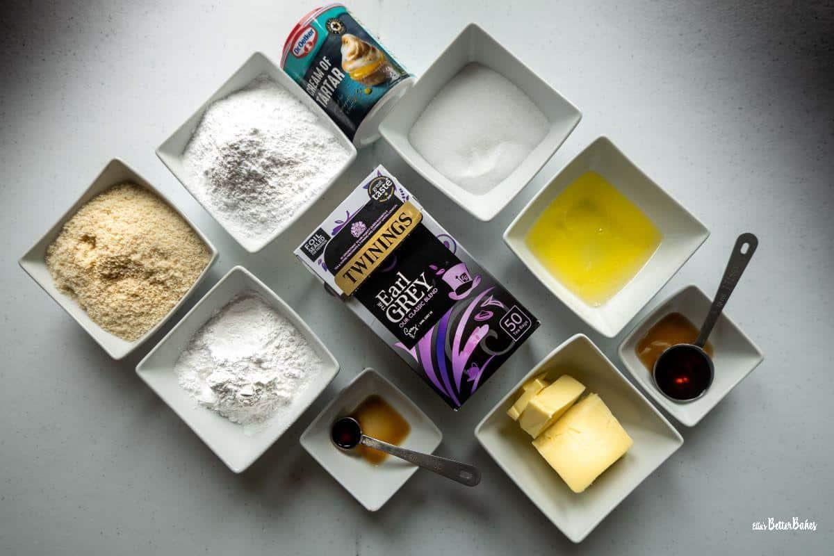 ingredients for earl grey macarons