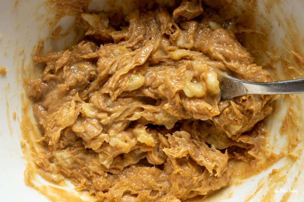 peanut butter and banana paste