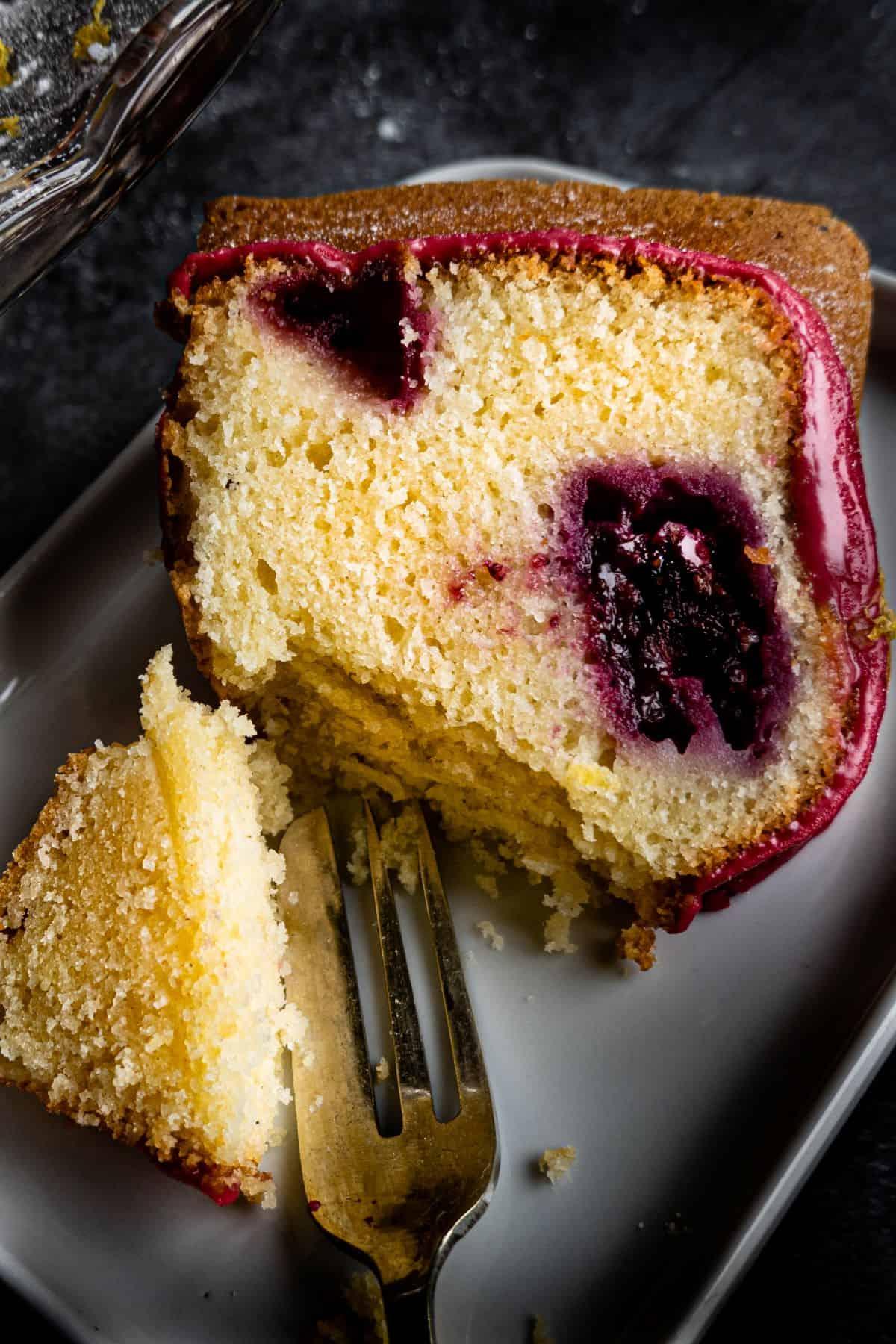 portrait slice of cake