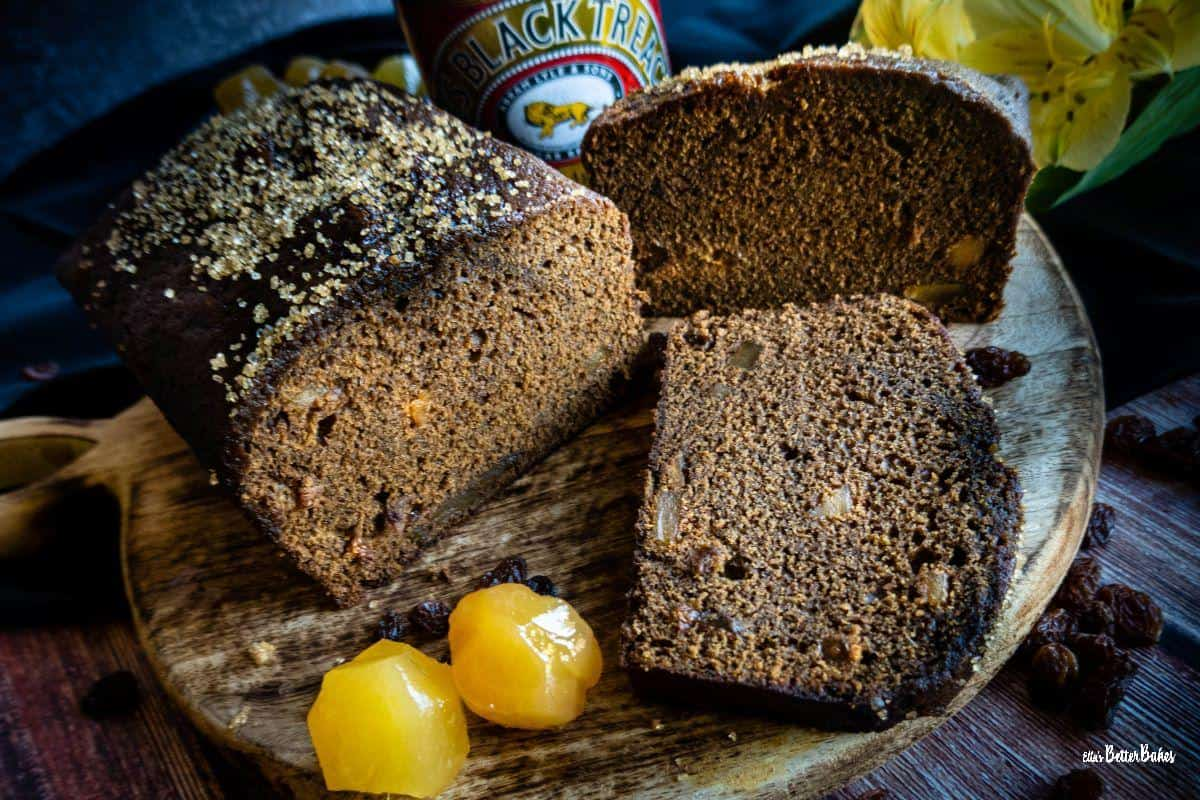 whole jamaican ginger cake and slices